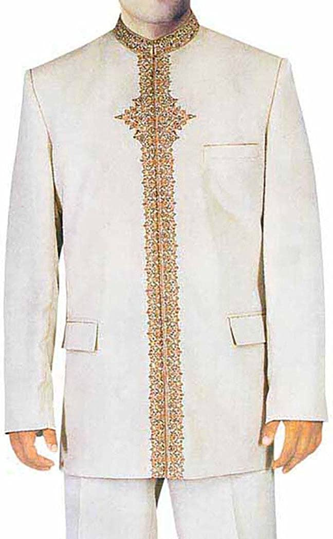 INMONARCH Mens Cream 2 Pc Jodhpuri Suit Traditional Look JO0158
