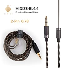 HIDIZS Replacement Audio Upgrade Cable, Detachable Earphone Cable 4.4mm Plug Headphone Balanced Cord- 2 Pin 0.78mm IEM Cable for MS4 MS1 KZ ES4 ZSR ZST ZSR ED16 ZS10 TFZ TRN V20 Headphones