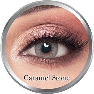 Amara Caramel Stone Contact Lenses, Original Unisex Amara Cosmetic Contact Lenses, Monthly Disposable, Caramel Stone (Gray...
