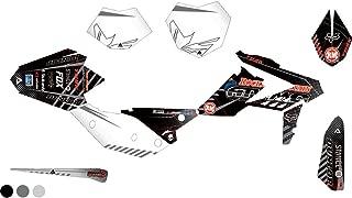 Attack Graphics Custom Havoc Complete Bike Graphics Kit Black/Dark Grey - Fits: Beta 125 RR 2018-2019