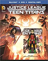 Justice League VS Teen Titans - COMBO (Robin Figure + Bluray + DVD + Digital Copy) - English, Spanish, & French Audio