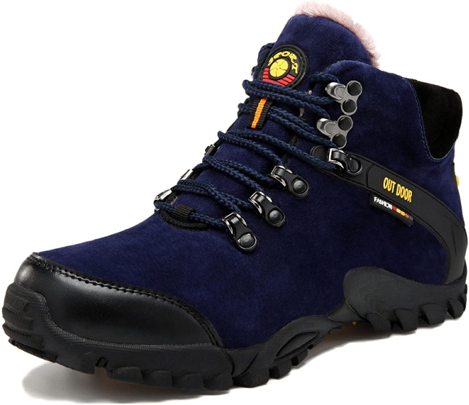 DSFGHE Sports shoes Men's Women's High Rise Hiking shoes Waterproof Climbing Boots Autumn and Winter Plus Velvet Outdoor Sports shoes
