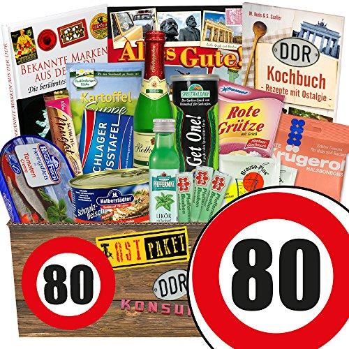 DDR Geschenkbox XXL / Spezialitäten Box / Geburtstag 80 / Geschenkideen Oma