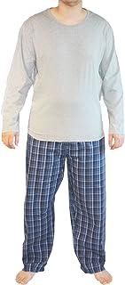 Haigman Mens Plain-Printed Cotton Long Pyjama Lounge Wear