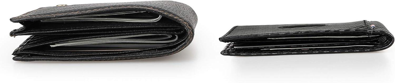 Cynure Men's RFID Blocking Leather Card Bifold Wallet Slim Minimalist Front Pocket Wallet ,Carbon Fiber Black