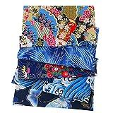 ASNOMY 5pcs/Pack Japanische Stil Baumwolle Stoffe Patchwork