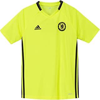 adidas Kids Chelsea Training Soccer Jersey 2016/17 (Youth X-Large) Solar Yellow
