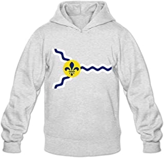 JJTD Flag of St. Louis Fun Long Sleeve Sweatshirt for Adult