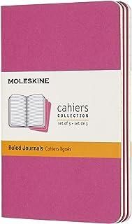 モレスキン ノート カイエ ジャーナル3冊セット 横罫 ポケットサイズ キネティックピンク CH011D17