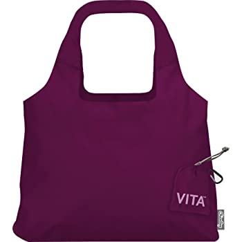ChicoBag VITA Reusable Shopping Bag with Attached Pouch and Carabiner Clip, Compact, Designer Shoulder Tote
