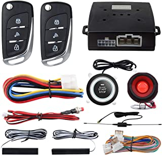 EASYGUARD EC003N-V Car Security Alarm System PKE Passive keyless Entry Remote Engine Start Stop keyless go System DC12V