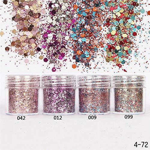 1 Doos Nail Mermaid Glitter Flakes Sparkly 3D Dot Kleurrijke Pailletten Glitter Poeder Spangles Polish Manicure Nagels Art Decorations, 012 doos