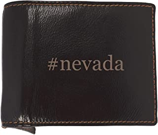 #nevada - Soft Hashtag Cowhide Genuine Engraved Bifold Leather Wallet