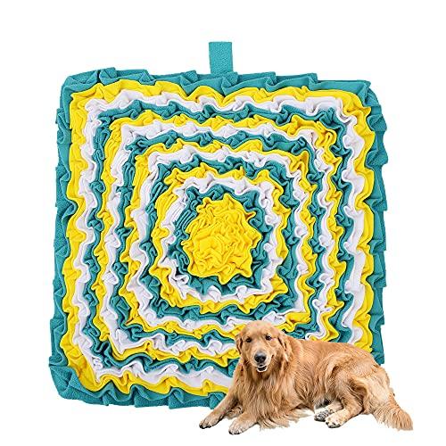Alltripal Schnüffelteppich Hund Hundeteppich Interaktives Hundespielzeug Intelligenz Schnüffel Teppich Waschbares Faltbares Intelligenzspielzeugrutschfeste Interaktive 46 x 46 cm