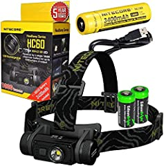Max output of 1000 lumen Wide 100° beam angle for more even illumination Included NL189 rechargeable battery charged via USB interface Single switch interface allows for easy one-hand operation Bundle includes 2 X EdisonBright CR123A lithium batterie...
