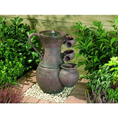 Small Solar Powered Water Feature Terracotta Effect Pitcher PC101