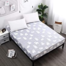 AUXCHENGFCAU New Mattress Cover, Popular Pattern Printed Waterproof Mattress Cover (Color : Xiaobaixiong, Size : 120X200X3...