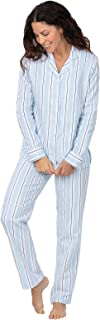 Women Pajamas Set - Women's Pajamas, Flannel Button-Front