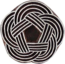 Round Celtic Knot Wooden Block Stamp Textile Scrapbook Heena Tattoo Clay Pottery Craft Art