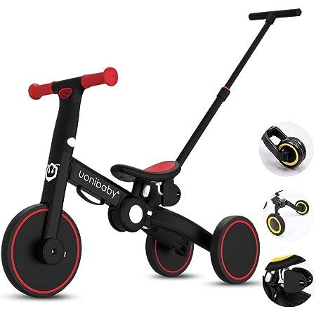 OLYSPM 4 en 1Bicicleta sin Pedales para Niños,Bicicleta para Niños Pequeños para Niños de 1.5 a 5 Años,sillín Ajustable,Lindo de Regalo Favorito del Niño