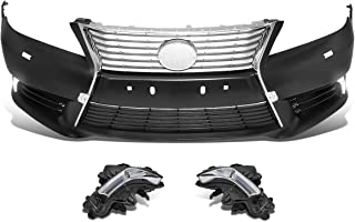 DNA MOTORING BMP-LES01 Hourglass Style Front Bumper Cover with LED Fog Light (for 10-12 ES350)