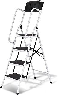 aluminum ladder with handrail