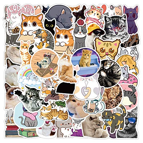 DSSK 50Pcs New Sticker Pack Pet Cat Graffiti Stickers Waterproof Suitcase Notebook Scooter Water Cup Stickers