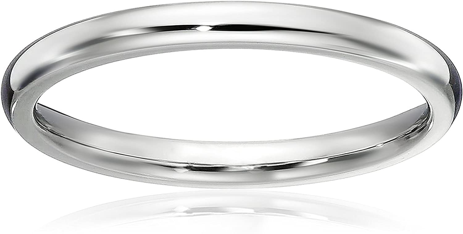 LOVE Beauties 1.5 MM Titanium Comfort Fit Wedding Band Ring Classy Domed Ring