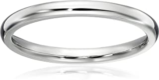 1.5 MM Titanium Comfort Fit Wedding Band Ring Classy Domed Ring