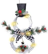 JBhzd Kerstproducten, woondecoratie, kerstkransen, hangers, LED-verlichting slingers, hangers, Kerstmis wijnstok ringen, k...