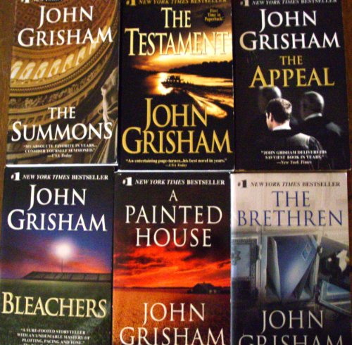 John Grisham Collection (set of 9 books)The Innocent Men, The Associate, The Street Lawyer, The Brethren,The Testament,The Summons,Bleachers,The Appeal,A Painted House.