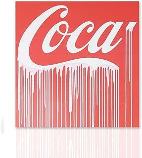 Impresión sobre lienzo Coca Cola homenaje listo para colgar canvas con marco de madera hecho a mano Pronto de colgar Coca cola Arte Diseño - Declea