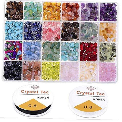 shentaotao 1 Box 24 Grids Schmuck Accessoires Kombination Set Bunte Perlen Steine ??für Schmuck DIY Fertigkeit Uhren Und Schmuck