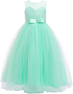 mint green childrens bridesmaid dresses