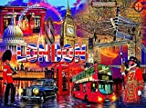 Kit pintura de diamante pintura por numeros 5D DIY Paisaje de la calle de la ciudad de Londres adultos Niños Mosaico diamantes de imitación bordado punto de cruz habitación de pared decoración 40x50cm