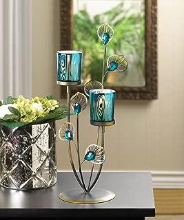 Tabletop Candle Holder Peacock Pillar Iron Lantern Wedding Tealight Unity Votive Candle Stick Stand Dining Decorative Centerpiece