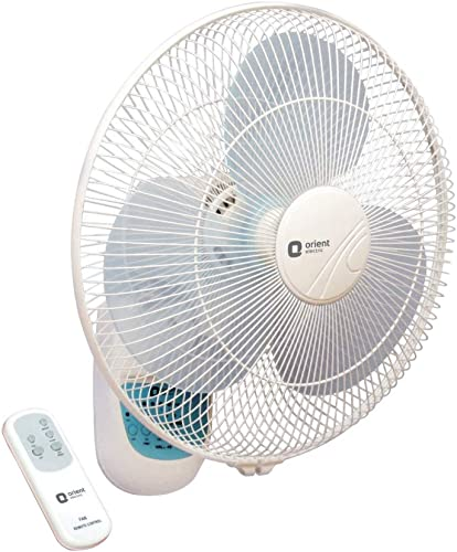 Orient Electric Wall 49 400mm Wall Fan with Remote Crystal White
