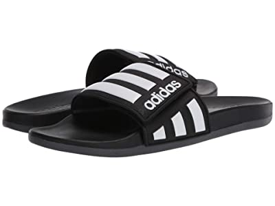 adidas Adilette Comfort ADJ (Core Black/Footwear White/Grey Six) Men