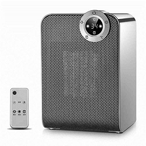 ZBJJ Calentadores eléctricos Calentador de cerámica para Escritorio, Calefactor Giratorio de 1800 / 900W con termostato, Caja Fuerte...