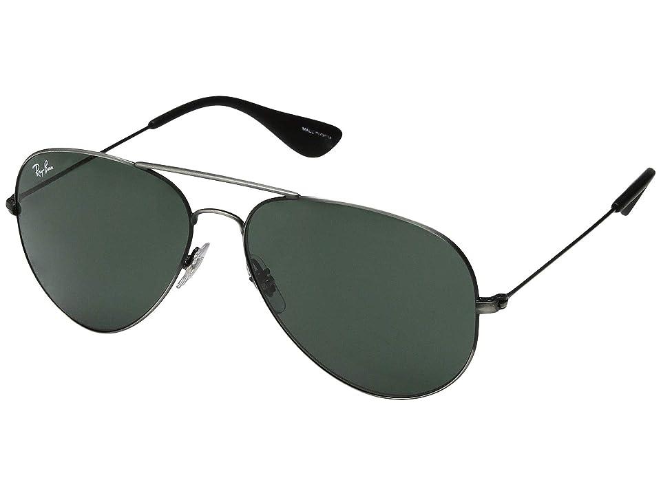 Ray-Ban 58 mm RB3558 (Matte Black Antique/Dark Green) Fashion Sunglasses