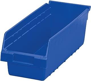 $65 » Akro-Mils 30098 ShelfMax Plastic Nesting Shelf Bin Box, 18-Inch Length x 6.75 Inch Width x 6-Inch Height, Case of 10, Blue
