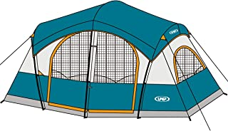 UNP Tents for Camping with 1 Mesh Door & 5 Large Mesh...