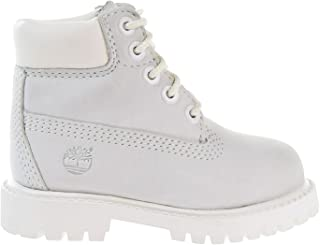 6 Inch Waterproof Toddler Boots White a1mlt