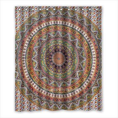 Dalliy Brauch indische mandala Wasserdicht Polyester Shower Curtain Duschvorhang 152cm x 183cm