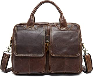 Mens Bag Leather Briefcase for Men Tote Business Messenger Bag 13-inch Laptop Shoulder Bag High capacity