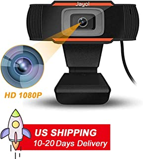 HD 1080p Webcam, Built-in Noise Reduction Microphone Stream Webcam, Laptop USB PC Webcam, Flexible Foldable Clip,Video Web Camera for Calling, Conferencing, Live Streaming Widescreen Webcam