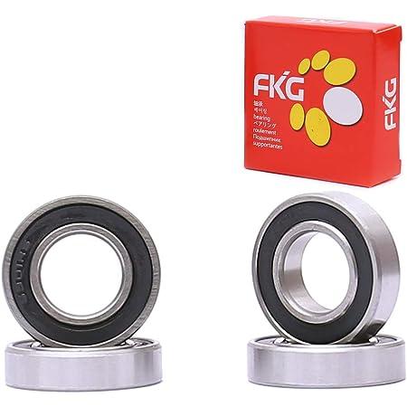 6901-2RS 12x24x6 50 PCS Ball Bearings Black Rubber Sealed Bearing