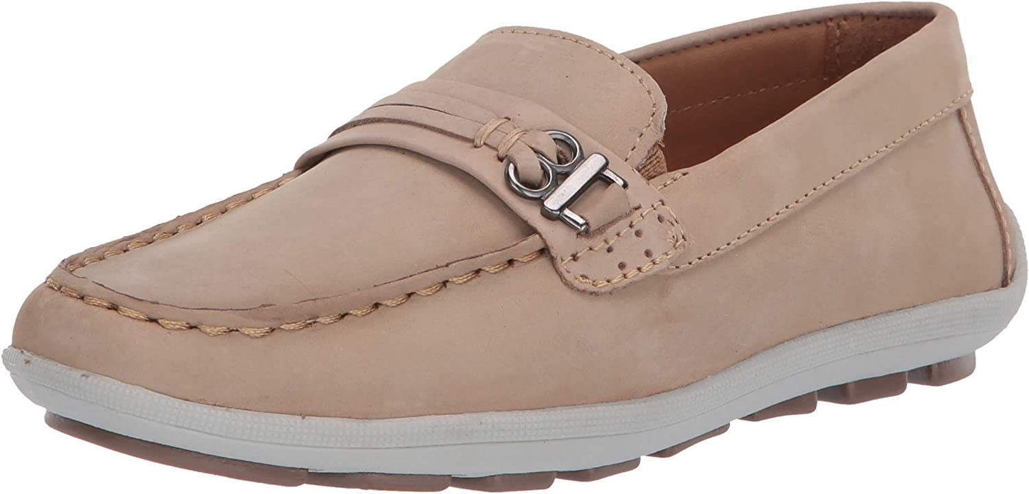 Driver Club USA Unisex-Child Kids Boys/Girls Leather Driving Loafer with Rope Anchor Detail