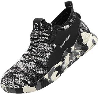 df46400231 DOLDOA Baskets Homme de Mesh Chaussures de Sport Homme de Respirant  Chaussure de sécurité Homme de