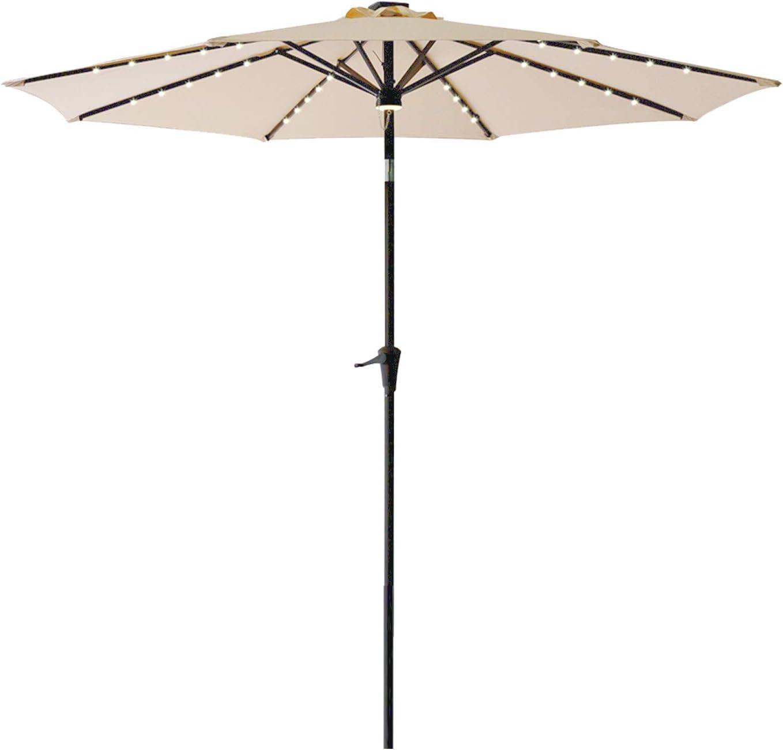 FLAMESHADE 10 ft Tulsa Mall Solar LED Light Raleigh Mall a Umbrella Outdoor Patio Table